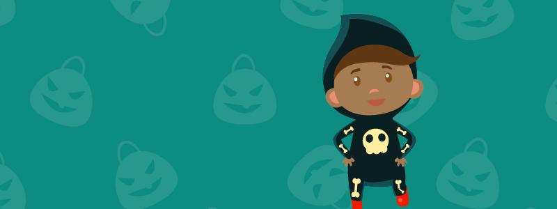 squelette de costumes d'halloween facile